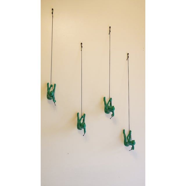 Green Position 2 Climbing Man Wall Art - Set of 4 - Image 3 of 5