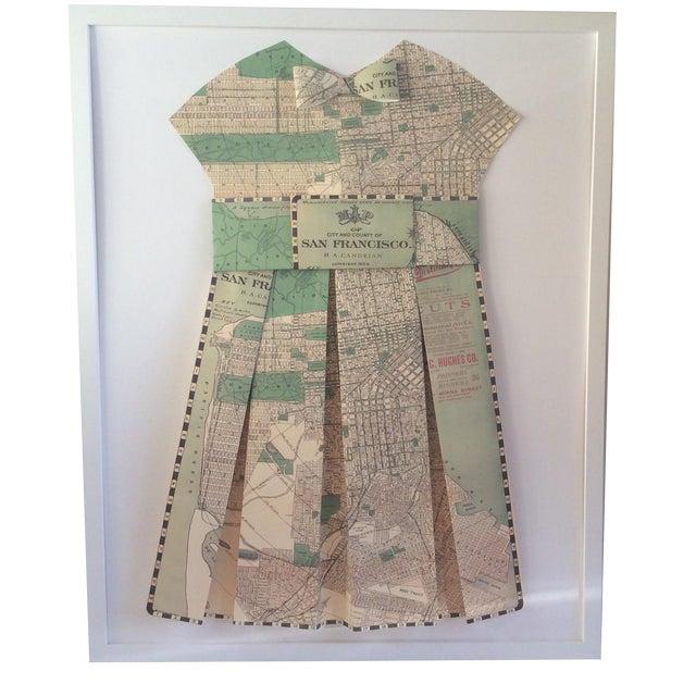 Framed 1903 San Francisco City Street Paper Art Dress - Image 1 of 5