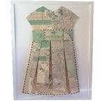 Image of Framed 1903 San Francisco City Street Paper Art Dress