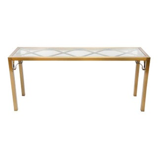 Mastercraft Brass Chippendale Console Table
