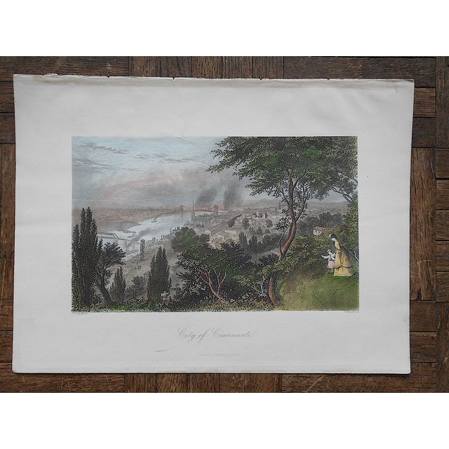 """Antique Engraving """"Cincinnati"""" - Image 3 of 3"""