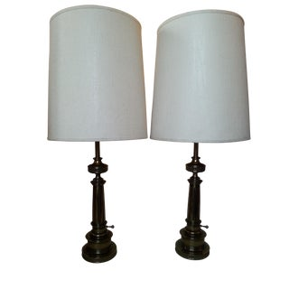 Monumental Federal Style Stiffel Lamps - Pair