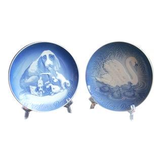 B&G Copenhagen Mother's Day Plates - A Pair