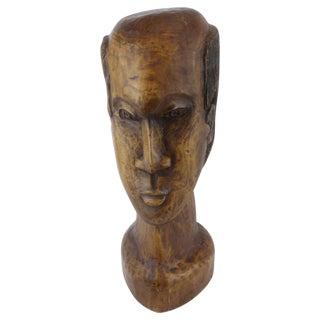 1976 Arnold Fletcher Carved Wood Bust
