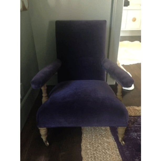 Image of 1880s Belgian Upholstered Club Chair