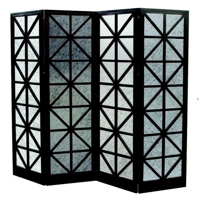 Oly Studio Antique Mirror Four-Panel Screen - Image 1 of 3