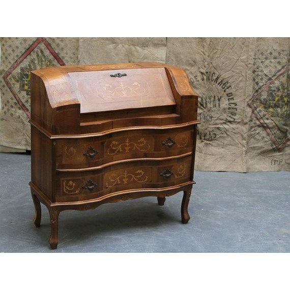 Antique 1800s French Wooden Secretary Desk - Image 2 of 6