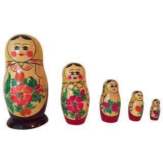 USSR Matryoshka Russian Nesting Dolls - Set of 5