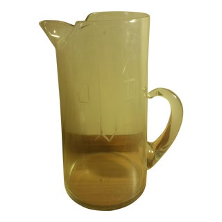 "Engraved ""J/D"" Monogrammed Beer Pitcher"