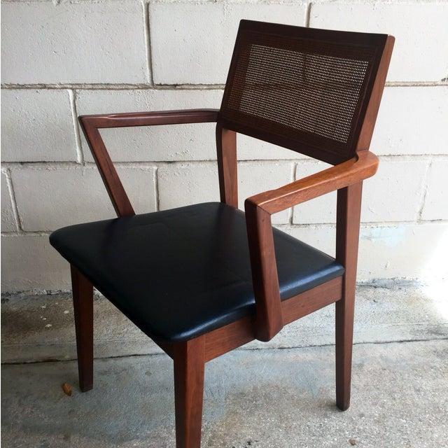 Mid-Century Walnut Dining Chairs - Set of 4 - Image 5 of 7