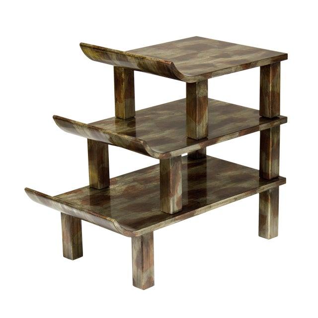 "Truex American Furniture ""Pagoda"" Side Table - Image 1 of 3"