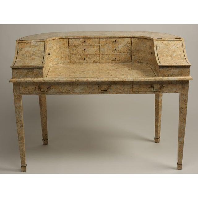 Antique Peach Marble Desk - Image 2 of 5