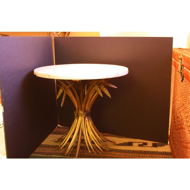 Vintage Italian Wheat Sheaf Marble Top Table - Image 7 of 7