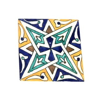 Hand Painted Moroccan Large Decorative Cement Tile