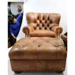 Image of Hancock & Moore Leather Chair With Ottoman