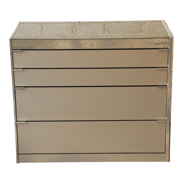 Guy Barker for Ello Mid-Century Mirrored Chest of Drawers - Image 1 of 9