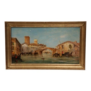1864 Venice Oil Paintings Signed W. Knell - A Pair