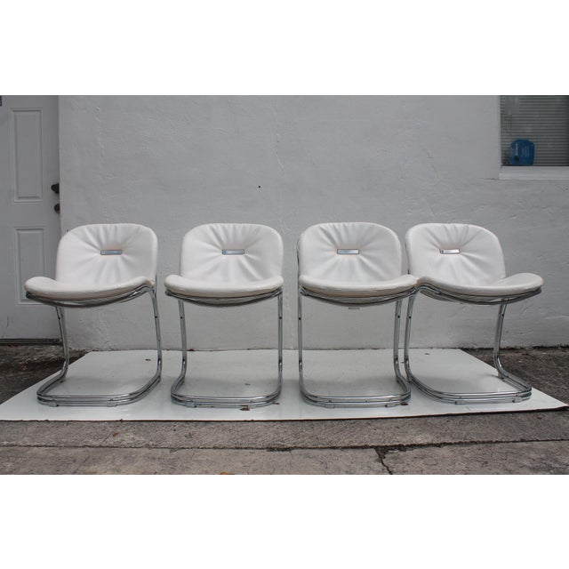 Gastone Rinaldi Italian Chrome Chairs - Set of 4 - Image 2 of 11
