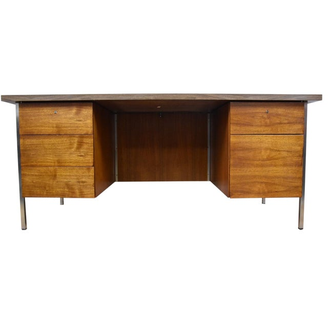 knoll office desk chairish. Black Bedroom Furniture Sets. Home Design Ideas