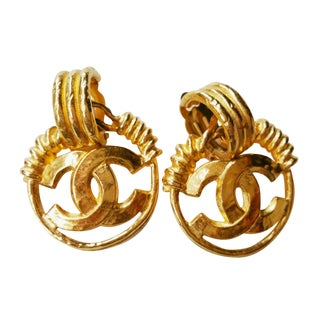 Vintage Chanel Twisted Wire Clip on Earrings - A Pair