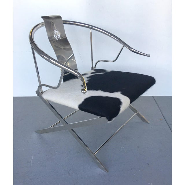 Stainless Steel Modernist Lounge Chair - Image 2 of 7