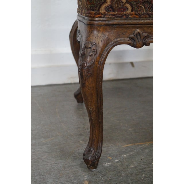 Rococo Style Carved Arm Chair - Image 9 of 11