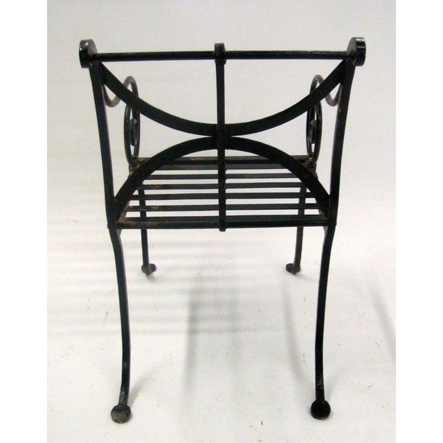 Image of 1980s Spanish Metal Armchair