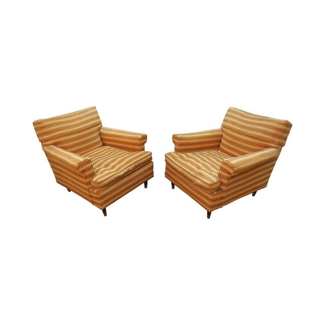 Vintage Mid-Century Modern Lounge Chairs - A Pair - Image 1 of 10