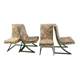 Chrome-Framed 'Z' Chairs - Set of 4