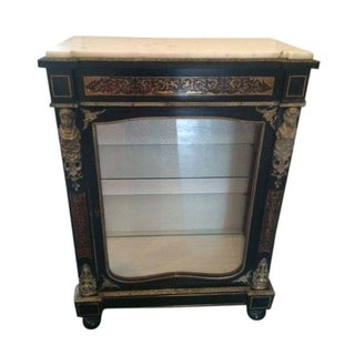 Antique French Boulle Pier Cabinet