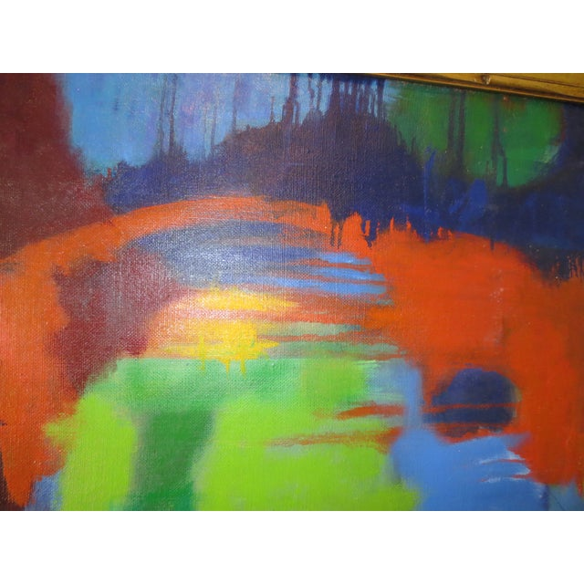 Large Colorful Abstract by Blanche Schmiedler - Image 3 of 3