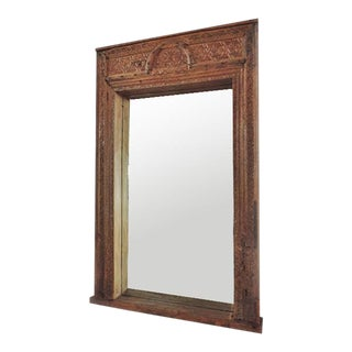 Carved Doorway Framed Mirror