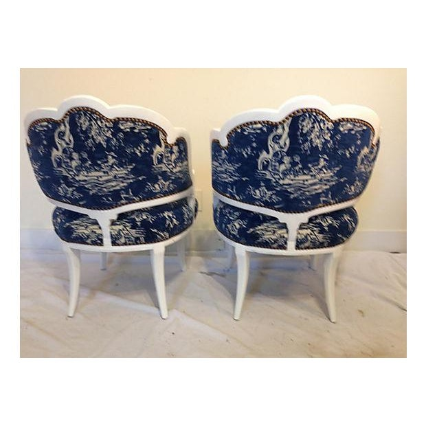 Image of Hollywood Regency Chairs - Pair