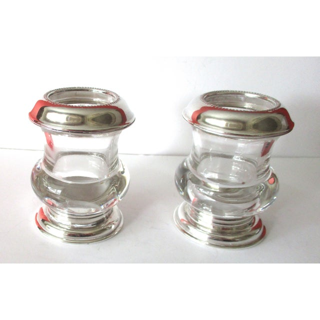 Vintage Silver & Glass Mini-Urn Vases - A Pair - Image 2 of 7