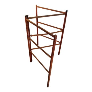 Antique Drying Rack From Virginia, Wood With Metal Parts
