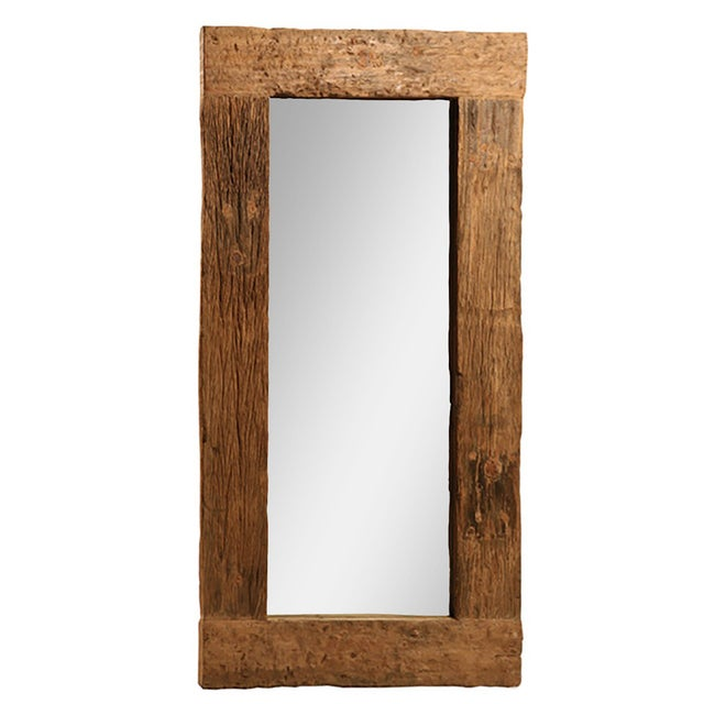 Rustic Wood Mirror - Image 1 of 3