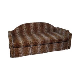 Avery Boardman Custom Leopard Upholstered Daybed