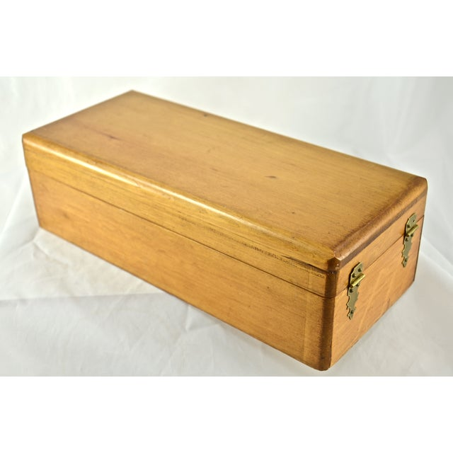 Handcrafted Wood Box with Dividers Inside - Image 6 of 7