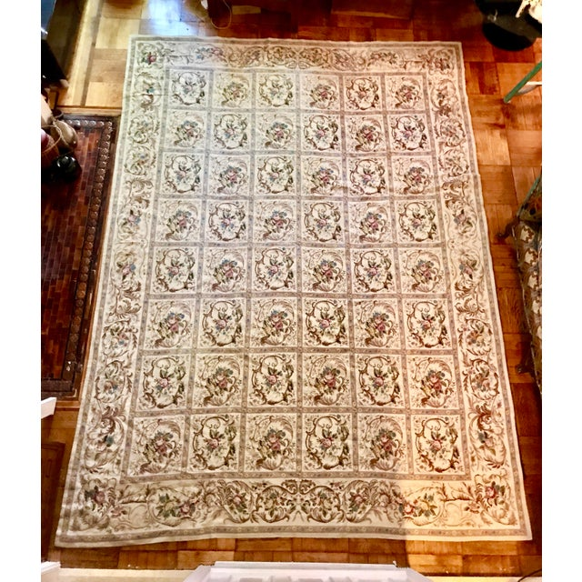 French Aubusson Needlepoint Rug - 8′6″ × 11′6″ - Image 2 of 11