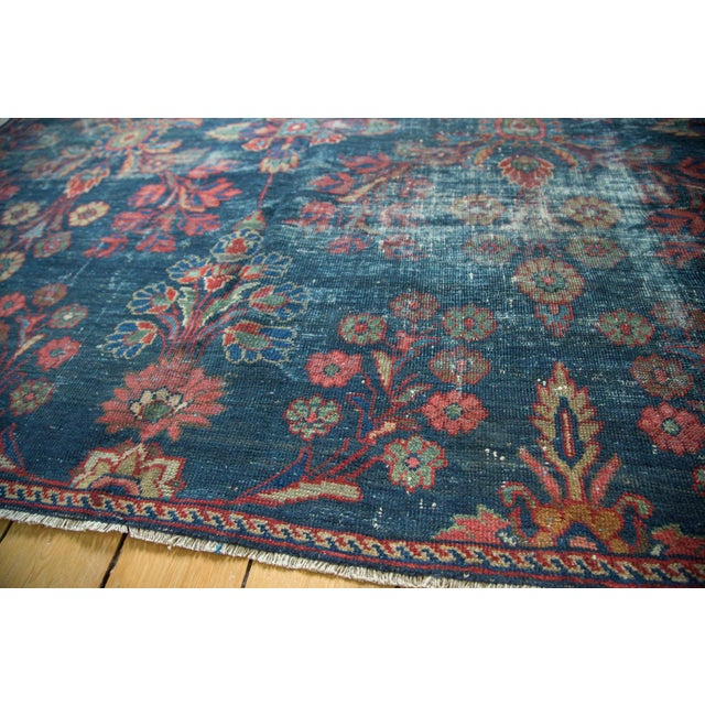 "Vintage Mahal Square Carpet - 6'4"" x 7'7"" - Image 3 of 10"