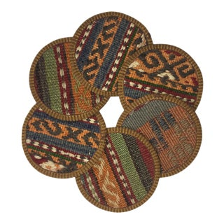 Kilim Coasters Set of 6 | Evren