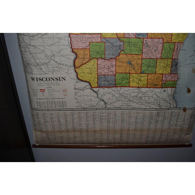 Classroom Map of Wisconsin Wall Mount - Image 8 of 10