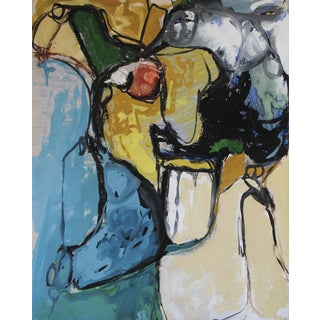 1960s Abstract Expressionist Gouache Painting