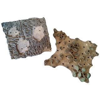 Wooden Printing Blocks - A Pair