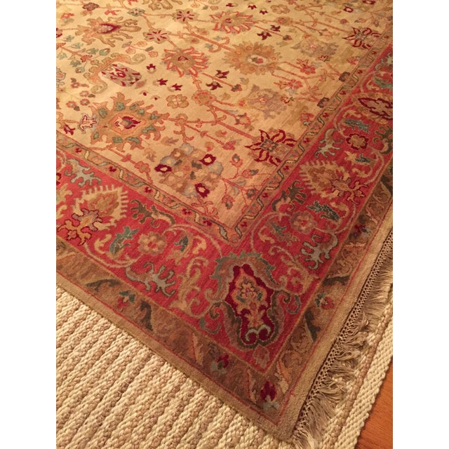 Designer Wool Rug Cream & Red - 8' x 11' - Image 10 of 10