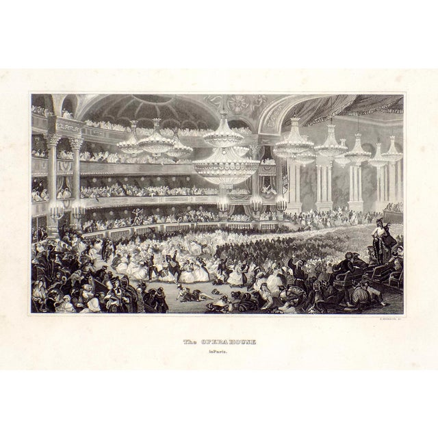 """""""The Opera House in Paris"""" 1855 Engraving - Image 6 of 6"""