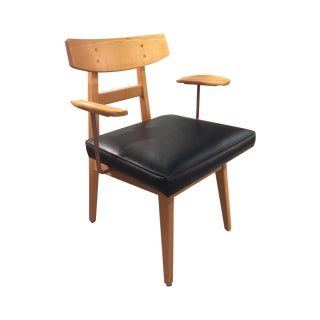 Jens Risom Maple Office Chair