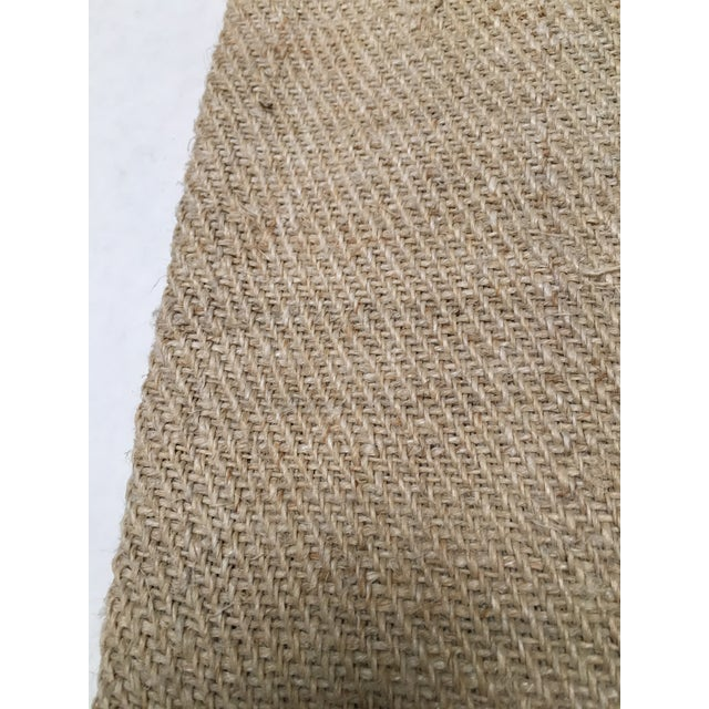Vintage Green Stripe European Grain Sack - Image 7 of 7