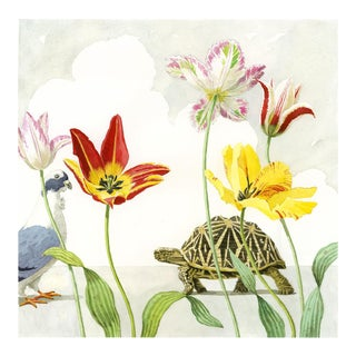 """Tulips With Dove & Turtle"" Giclée Print"