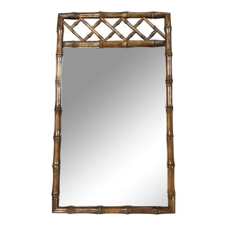 Oriental Style Faux Bamboo Mirror